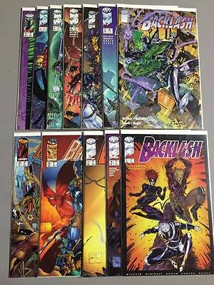 Lot of 12: Backlash #2 3 4 5 6 7 8 9 10 11 & 15 16 Image Comics VF ^