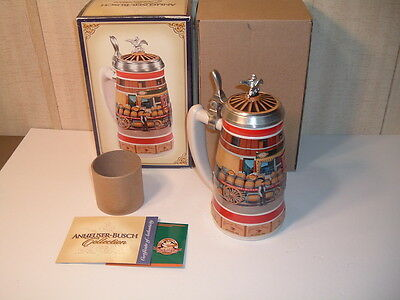 Anheuser-Busch Collection Early Delivery Days Series 1890s Barrel Wagon Stein