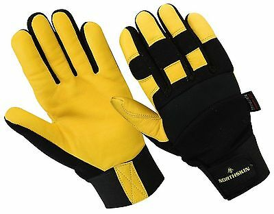 New Thermal Safety Working Gloves Heavy Duty Leather Builder Labour Plumber Work