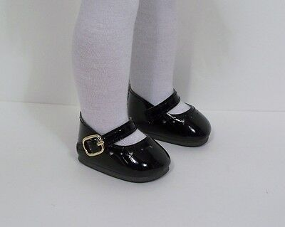 """Debs BLACK Patent Lovely Doll Shoes For 14/"""" AG Wellie Wisher Wishers"""
