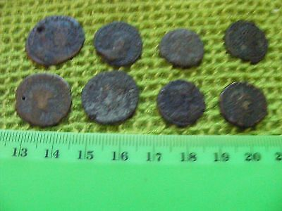 Lot of  8  Ancient Roman Coins.(G).