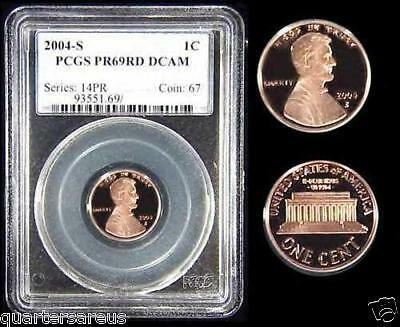 ~RED~ 2004-S PCGS PR69 RD RED DCAM Lincoln PR-69 ~L@@K~