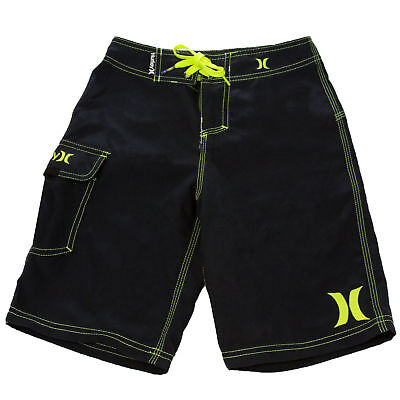 Hurley Youth One And Only Boardshorts True Navy/Neon Yellow 23