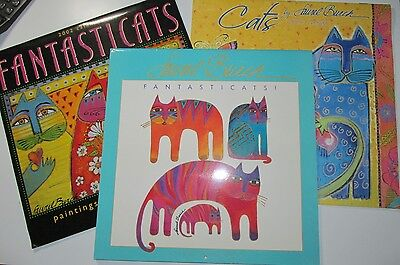 3 wall calendars Laurel Burch: Fantasticats 1993, 2002, Cats 2005