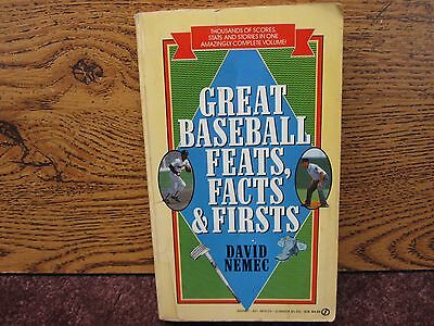 1989 Great Baseball Feats, Facts & Firsts By David Nemec