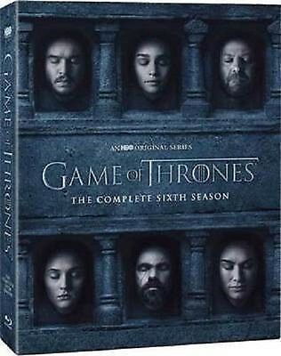 Game of Thrones: The Complete Sixth Season 6 (DVD, 2016) New Free Fast Shipping