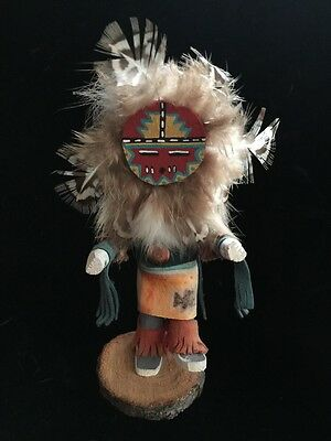 Vintage NATIVE AMERICAN KATSINA Figure Doll SUNFACE Signed By JB