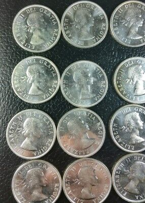 Lot Of 20 1960 Canadian Silver Dollars  .800 Fine Silver
