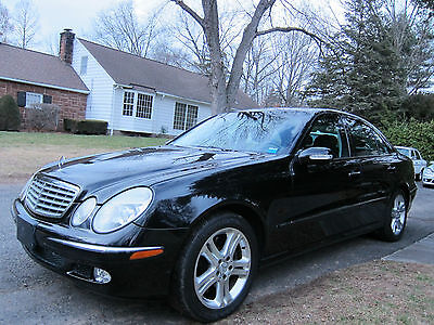 2005 Mercedes-Benz E-Class 4matic  201-248-3818 Allen MERCEDES BENZ E500 4MATIC LOW MILEAGE TRIPLE BLACK  MINOR WATER DAMAGE