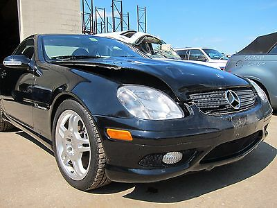 2003 Mercedes-Benz SLK-Class AMG MERCEDES BENZ SLK32 AMG 2003 REPAIRABLE SALVAGE! 21,172 ORIGINAL MILES Black/Red