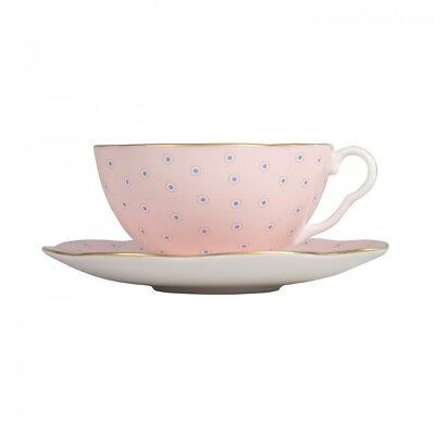 Wedgwood - Harlequin Polka Dot Tea Set - 'pink Cup And Saucer' - New - In Box -