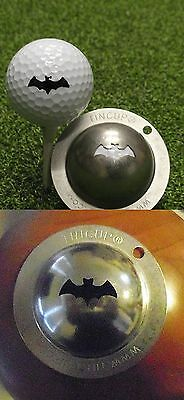 1 only TIN CUP GOLF BALL MARKER -VAMPIRE- BATMAN-  BUY 2  any CUPS get special
