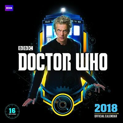 Doctor Who 2018 Square Wall Calendar by Browntrout NEW, Postage Free