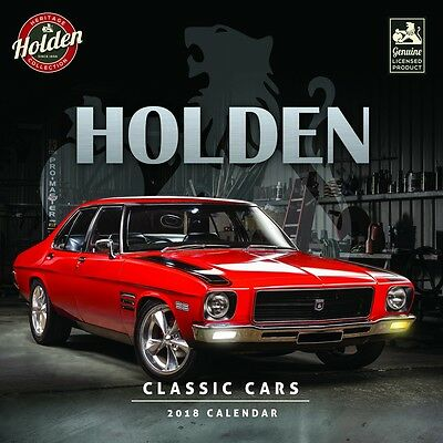 Classic Holden Cars 2018 Square Wall Calendar by Browntrout NEW, Postage Free