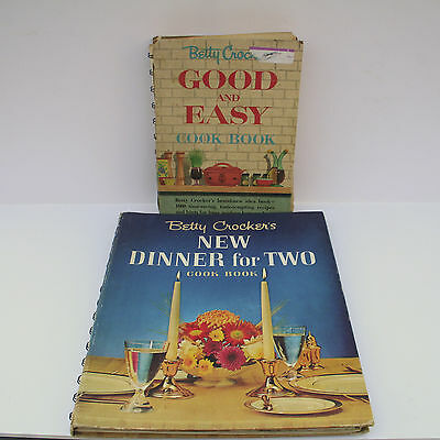 BETTY CROCKER'S New Dinner for Two Cookbook Good and Easy Cookbook 1st Editions