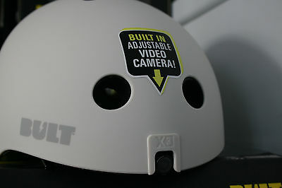 Whilte bult helmet with built in camera and audio L-XL 54-58cm