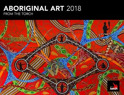 Aboriginal Art 2018 Horizontal Wall Calendar by Browntrout NEW, Free Post