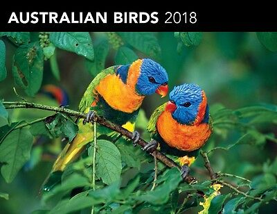 Australian Birds 2018 Horizontal Wall Calendar by Browntrout NEW, Free Post