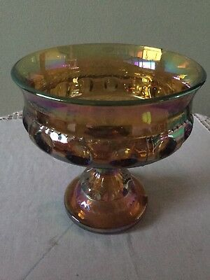 Carnival Glass Iridescent Compote / Goblet
