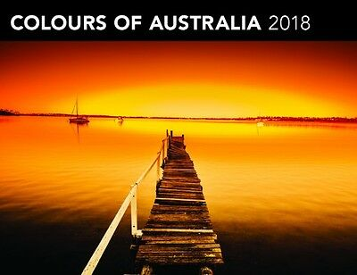 Colours of Australia 2018 Horizontal Wall Calendar by Browntrout NEW Free Post