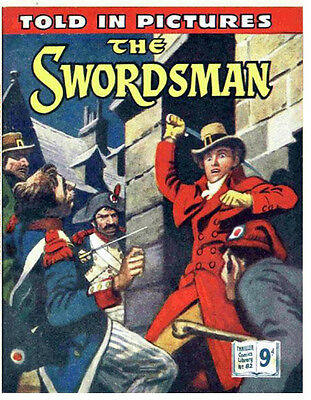 THRILLER PICTURE LIBRARY No.82 THE SWORDSMAN  - Facsimile 68 page Comic
