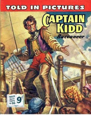 THRILLER PICTURE LIBRARY No.96 CAPTAIN KIDD  - Facsimile 68 page Comic
