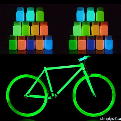 10 Color Paint Glow Pigment Fluorescent Super Bright Glow in the Dark Powder DIY