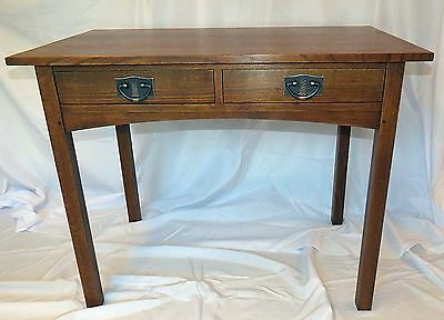 Stickley Arts And Crafts Mission Oak Desk Two-Drawer Desk / Library Table
