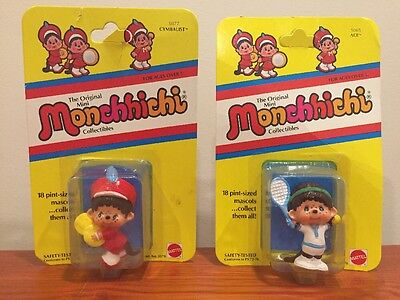 Lot of 2 MONCHHICHI Mini Collectible Figures NEW 1981 Mattel Ace & Cymbalist