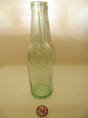 Vintage Glass Iroquois Bev Corp Beer Bottle - Buffalo, NY  w/ Red Used BottleCap