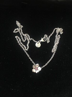 Shaun Leane Cherry Blossom Necklace In Pink Enamel With Pink Rodhalite Centre