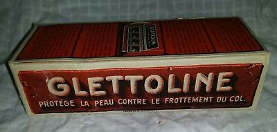 Antique 1910 Store Display of 12 Glettoline Shirt Collar Wax - Prevents Chafing