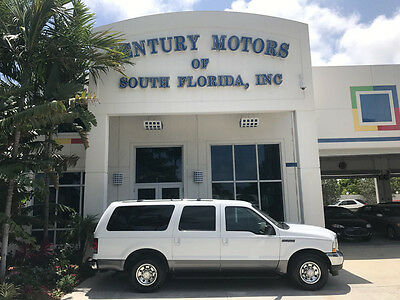 2002 Ford Excursion XLT Sport Utility 4-Door 3rd Row 1 Owner DVD CD Changer Tow Leather