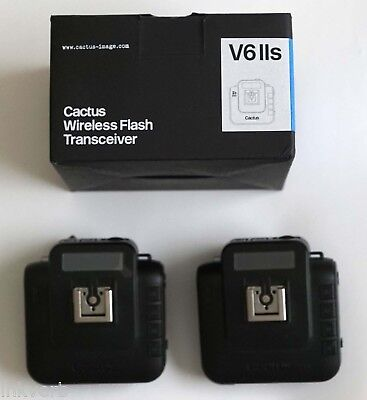 LOT of 2 Cactus Wireless Flash Transceiver V6 IIs for Sony - cross brand HSS