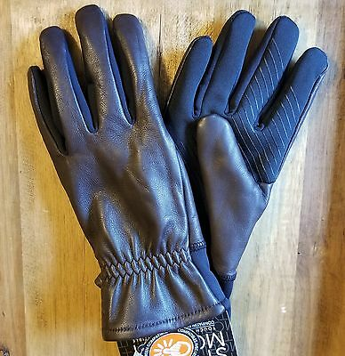 Men's leather gloves UR Powered Tech Friendly Thinsulate Brown Size L/XL