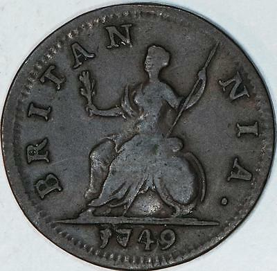 1749 Great Britain Farthing George The II Item#A408