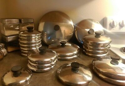 Vtg Revere Ware Replacement Lids for Pots & Pans/Stainless Steel/ Free Shipping!