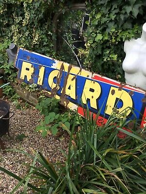 French Antique Metal And Ceramic Sign ricard anesette Pernod ..Marseille