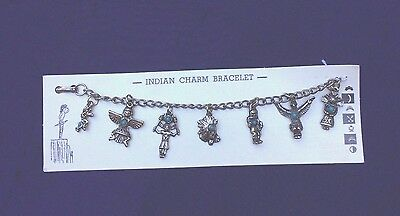 Authentic 50's Route 66  Native American Style Charms Bracelet Original Card !