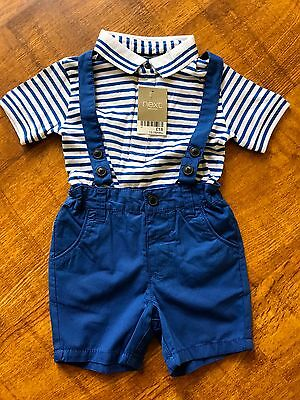 Baby Boys 2-Piece Next T-Shirt & Shorts Outfit Set - Bnwt - Age 12-18 Months