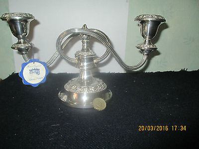 """Superb  Silver Plated 2 sconce Candelabra by """"IANTHE"""",England  - unused"""