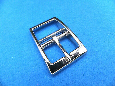 "Nickel Plated - 1""  25 Mm - Flat Caveson Dog Collar Leathercraft Buckle"