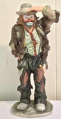 Flambro Emmett Kelly Jr Limited Edition Figurine. Looking Out To See. Pre-Owned