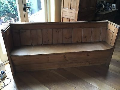 Church Pew 6 Feet Long Pitch Pine