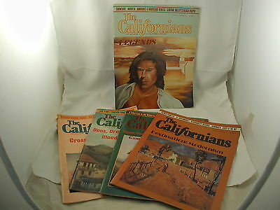 The Californians 5 Issues 1987-89 Magazine of California History Vintage Photos