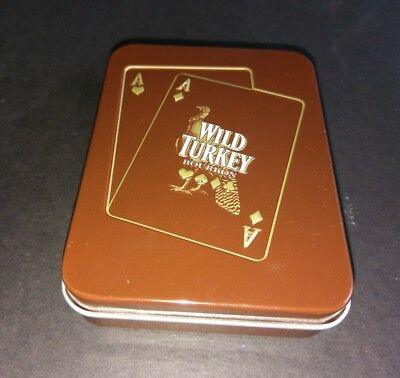 Wild Turkey Playing Cards In Tin Brand New