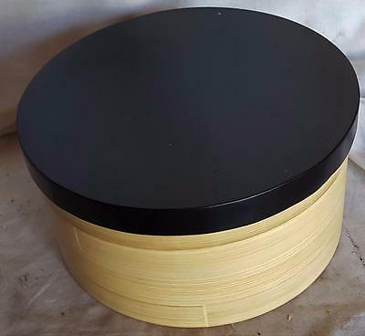 Gently Used Crate & Barrel Bamboo Hat Box - VGC - GREAT HAT BOX IN GREAT SHAPE