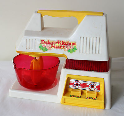 VINTAGE 1970's Playwell DELUXE KITCHEN MIXER Toy In BOX! Retro