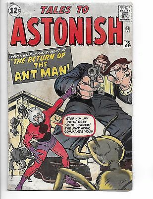 4.0 TALES TO ASTONISH #35 ANT MAN 2nd App! 1st Costume! KIRBY Ayers S Lee DITKO!