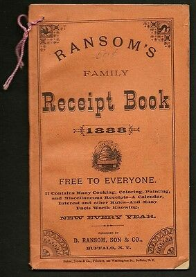32 Page 1883 RANSOM'S Family Receipt Book sold by A. H. PHELPS, NEW BERLIN, N.Y.
